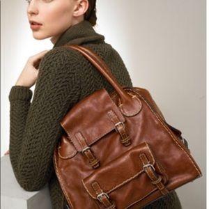 Chloe Edith Conteen Satchel Brown Shoulder Bag